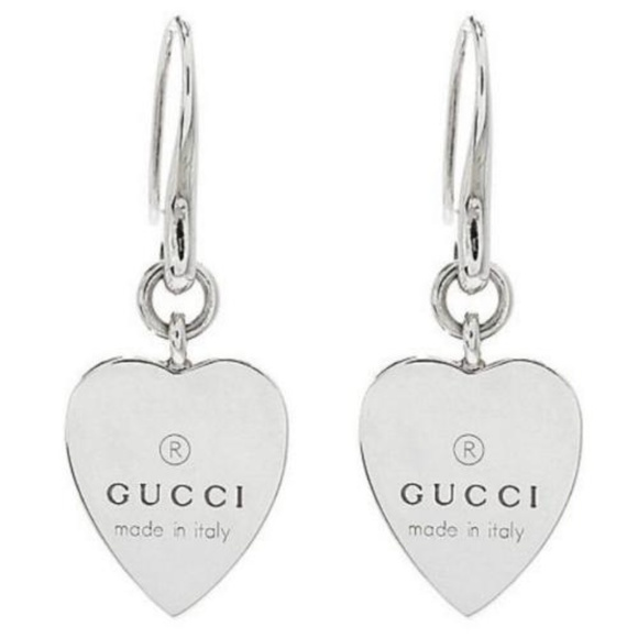 5452a53ea Gucci Jewelry | Trademark Heart 925 St Silver Drop Earrings | Poshmark
